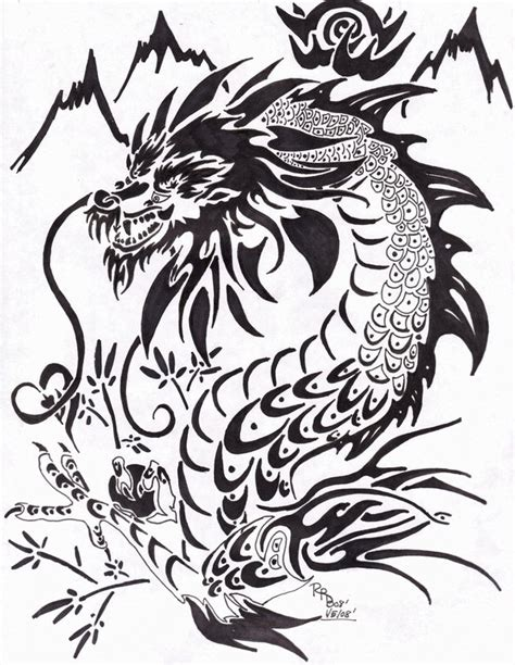 thailand dragon tribal by rurubunny on deviantart