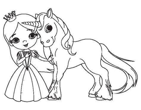 imagenes de unicornios para colorear dibujo de princesa y unicornio para colorear dibujos de