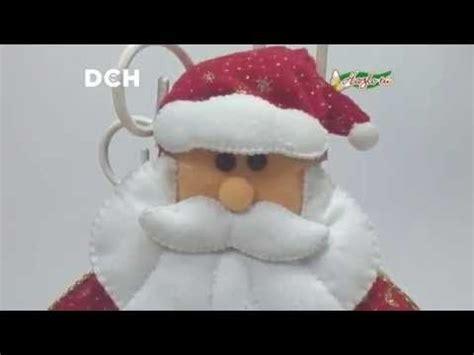 hugo rodriguez navidad decoremos con santa claus cuelga puertas en fieltro