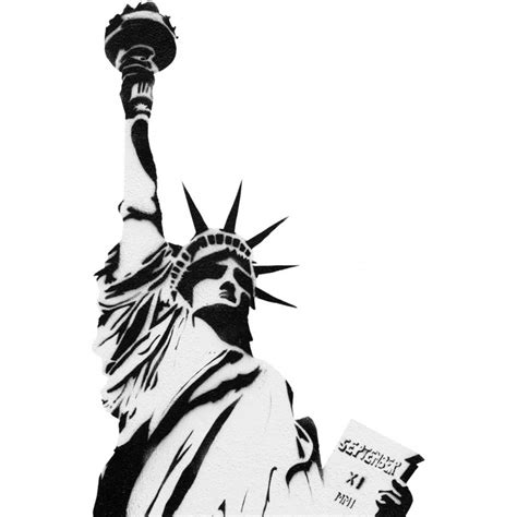 Where To Buy Wall Art Stickers statue of liberty stencil wall decal kerstee