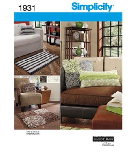 simplicity pattern home decorating one size jo