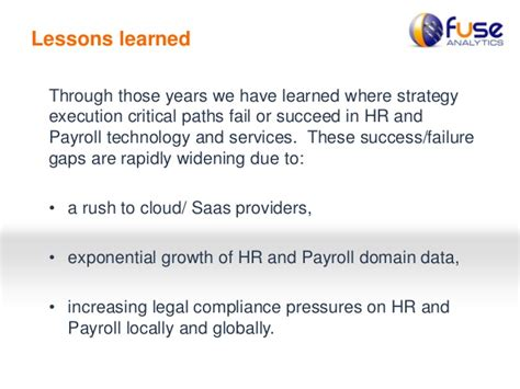 Mba Hr Cloud Payroll by Fuse Analytics Hr Payroll Cloud Transformation
