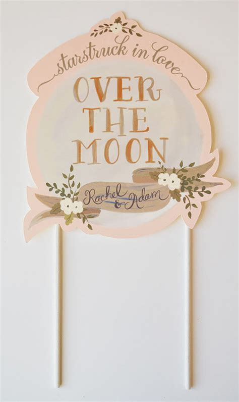 Wedding Cake Banner by Cake Toppers From The Snow Polka Dot