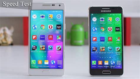 Hp Samsung A5 Vs E7 samsung galaxy a5 vs galaxy alpha speed test