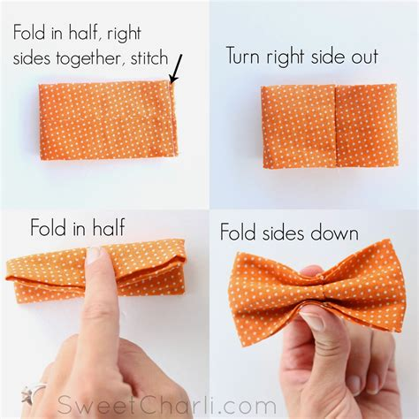 How To Make A Bow Tie Out Of Tissue Paper - diy simple bow tie sewing baby singlet