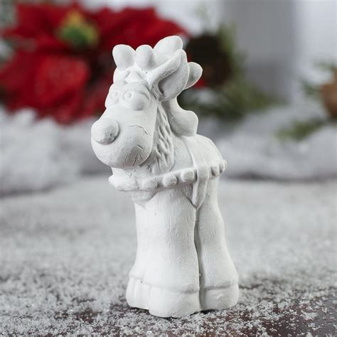 ready to personalize ceramic reindeer ornament christmas