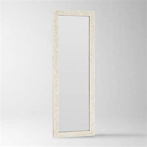 bone inlay mirror parsons floor mirror with bone inlay in ivory