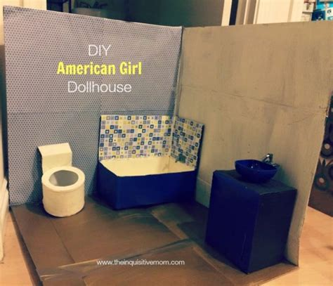 how to make an american girl doll bathroom diy american girl dollhouse the inquisitive mom
