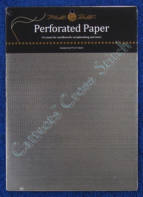 Perforated Paper Pp6 Silver perforated paper for cross stitch silver 14 count mill hill ebay