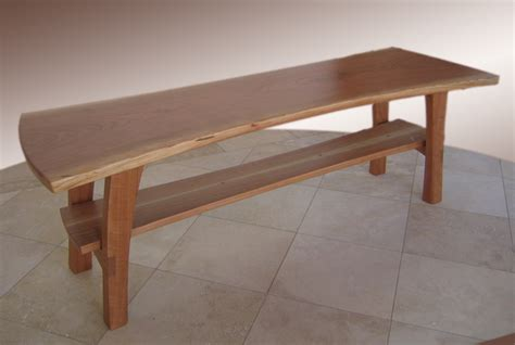 Sofa Table With Chairs Hicks Woodworking 187 Cherry Entry Bench
