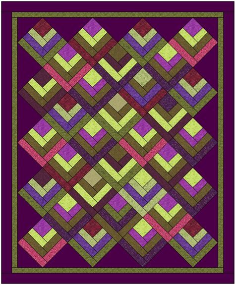 Half Log Cabin Quilt Pattern by Quilt Designers Scrap Quilts From Stash