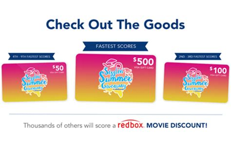 Buy 500 Dollar Visa Gift Card - new quikly giveaway 50 500 visa gift card redbox discount codes simple coupon