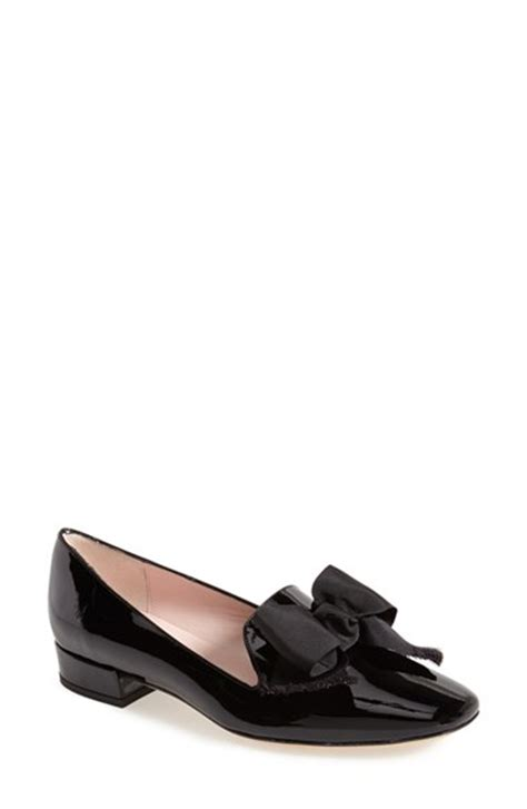 kate spade loafers lyst kate spade gino patent leather loafers in black
