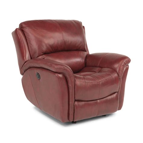 cheap power recliners flexsteel 1445 54p dominique leather power glider recliner