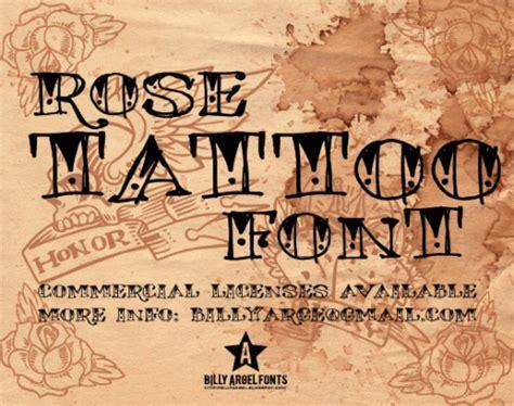 rose tattoo font fonts webdesignerdrops