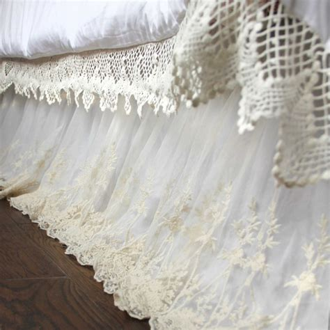 Glass Chair Mat Lace Bed Skirt