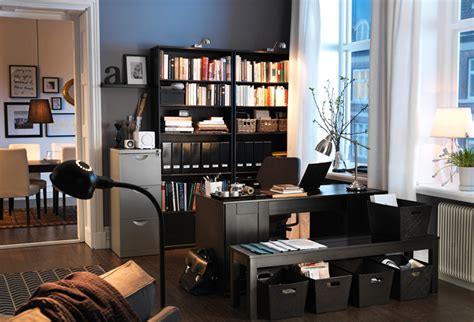 Living Room Office Combo Decorating Ideas Ikea Workspace Organization Ideas 2011 Digsdigs