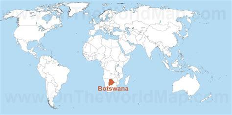 botswana on a world map botswana on the world map botswana on the africa map
