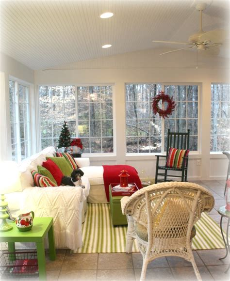 Green Sofa Living Room Ideas Warming Up My Sunroom For Winter Hooked On Houses