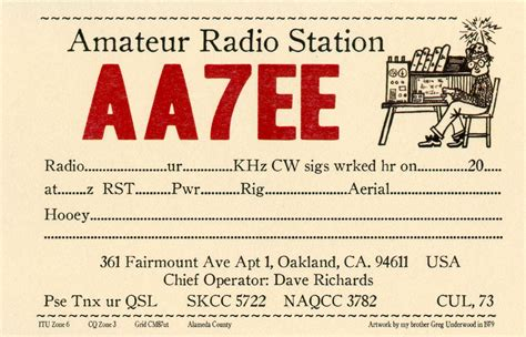 qsl card templates for word qsl cards dave richards aa7ee
