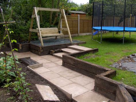 the clarke s landscaping with railway sleepers