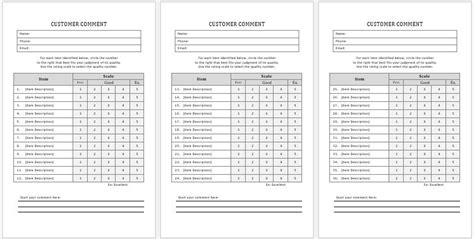 customer report card template survey cards templates web form templates customize use
