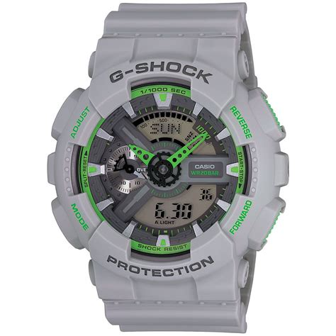 Casio G Shock Grey 120 g shock ga110ts 8a3 g shock gray green watches of