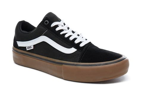 Vans Oldskool Black White Sole Gum Waffle Dt Premium Import vans quot skool pro quot shoes black white medium gum kunstform bmx shop mailorder worldwide