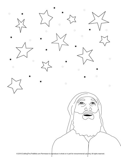 coloring page abraham stars coloring page of abraham looking at stars hittan
