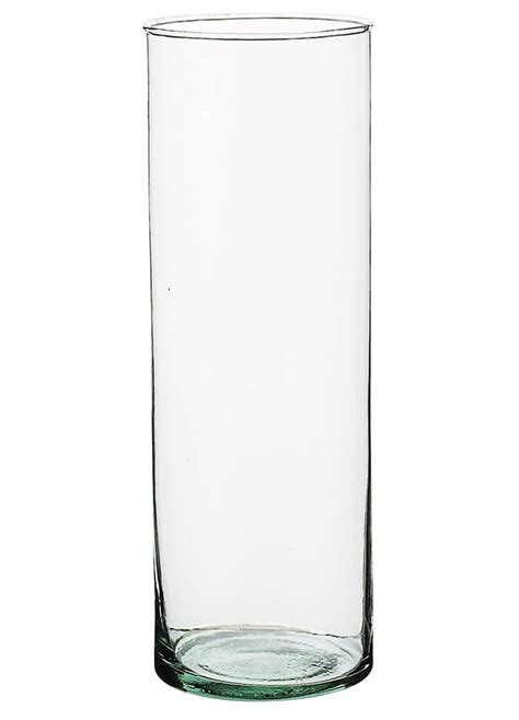 Cylinder Vase by Clear Glass Cylinder Vase 10 1 2 Quot