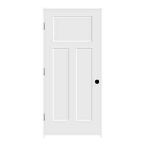 3 Panel Craftsman Interior Door Jeld Wen Craftsman Smooth 3 Panel Primed Molded Single Prehung Interior Door Thdjw137100610