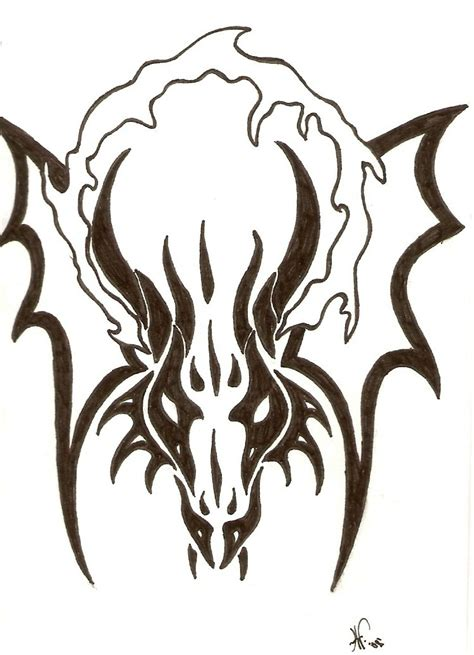 black tribal dragon tattoo designs black tribal quality designs