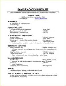 Sample Resume For Scholarship 5 Cv Template For Scholarship Event Planning Template