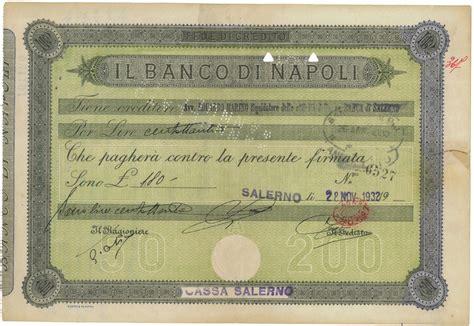 Www Banco Napoli by Cassa Salerno Il Banco Di Napoli Titolo Finanziario
