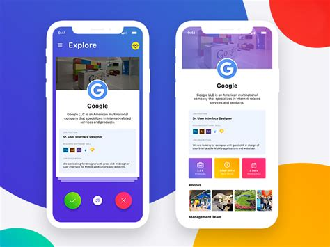 Job App Mobile Ui Template Psd At Downloadfreepsd Com Application Ui Templates