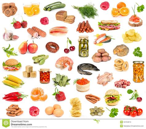 set of different food stock images image 34754674
