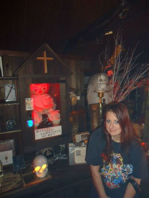 annabelle doll occult museum me with the annabelle doll at the warren occult museum if
