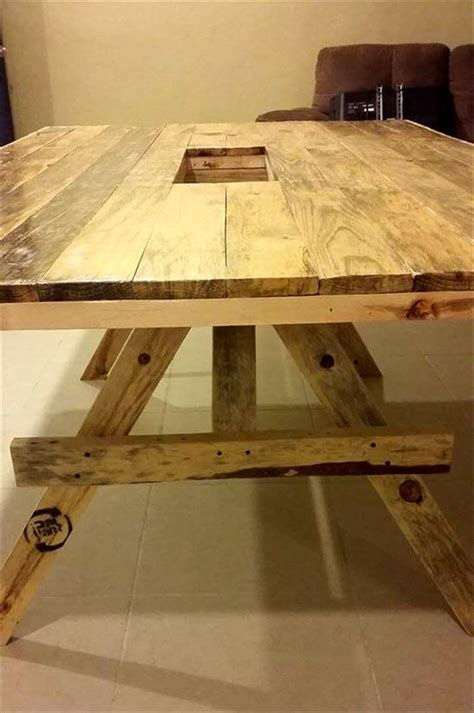 recycled pallet dining table diy xl size pallet dining table