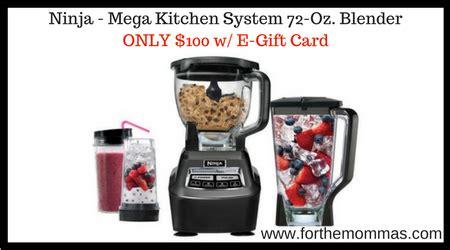 Target E Gift Card Delivery Time - ninja mega kitchen system 72 oz blender only 100 w e gift card ftm