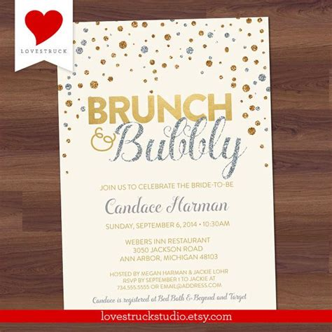 17 Best Images About Brunch And Bubbly Bridal Shower On Pinterest Chagne Bridal Showers Birthday Brunch Invitation Template