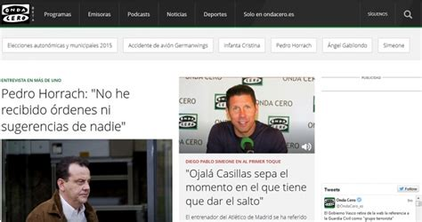 cadena ser pagina web onda cero revoluciona su p 225 gina web 191 a imagen y semejanza