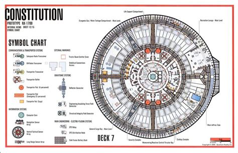 uss enterprise floor plan deck 7 constitution class star trek deck plans