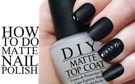how to make any nail matte diy matte nail