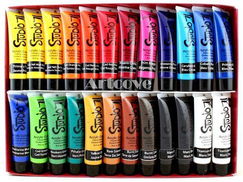 acrylic painting supplies list new studio 71 acrylic paint set 24 colors