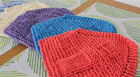 printable free knitting patterns knit house dishcloths in printable house gift boxes
