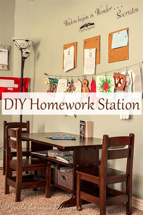 homework station ideas diy homework station a central location for all things school