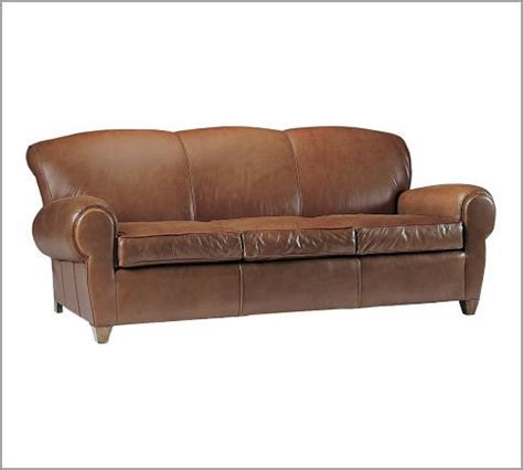 Leather Sofa Pottery Barn The Big Theory Manhattan Leather Sofa From