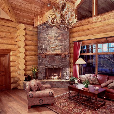Log Home Decorating Photos Log Cabin D 233 Cor In Timeless Style The Home Decor Ideas