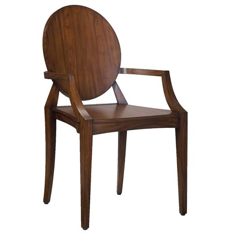 Rustic Modern Dining Chairs Baudin Rustic Lodge Modern Mahogany Wood Dining Arm Chair Kathy Kuo Home