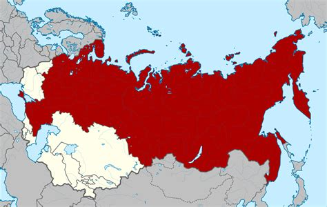 russia map before soviet union ussr on map
